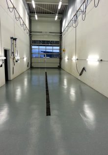 Industrie-Bodencoating Autogarage